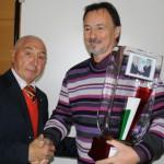 Consegna del Samurai d'Oro da GSB (Direttore Rivista Samurai) 2009