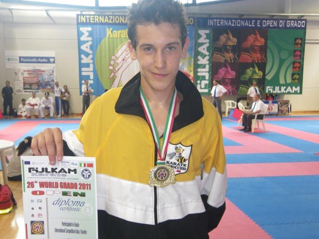 Emilio Vezzoli Medaglia d'Oro cat. WKF Cadets 70 kg