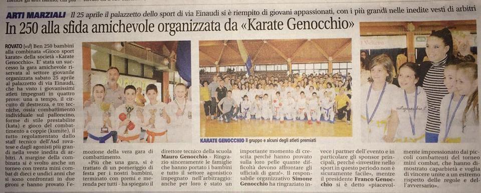 """25-04-2015: Combinata sociale """"Gioco Sport Karate"""" riservata al nostro settore giovanile"""
