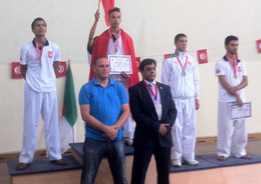 Rabia medaglia d'oro con la Nazionale Tunisina (luglio 2013)
